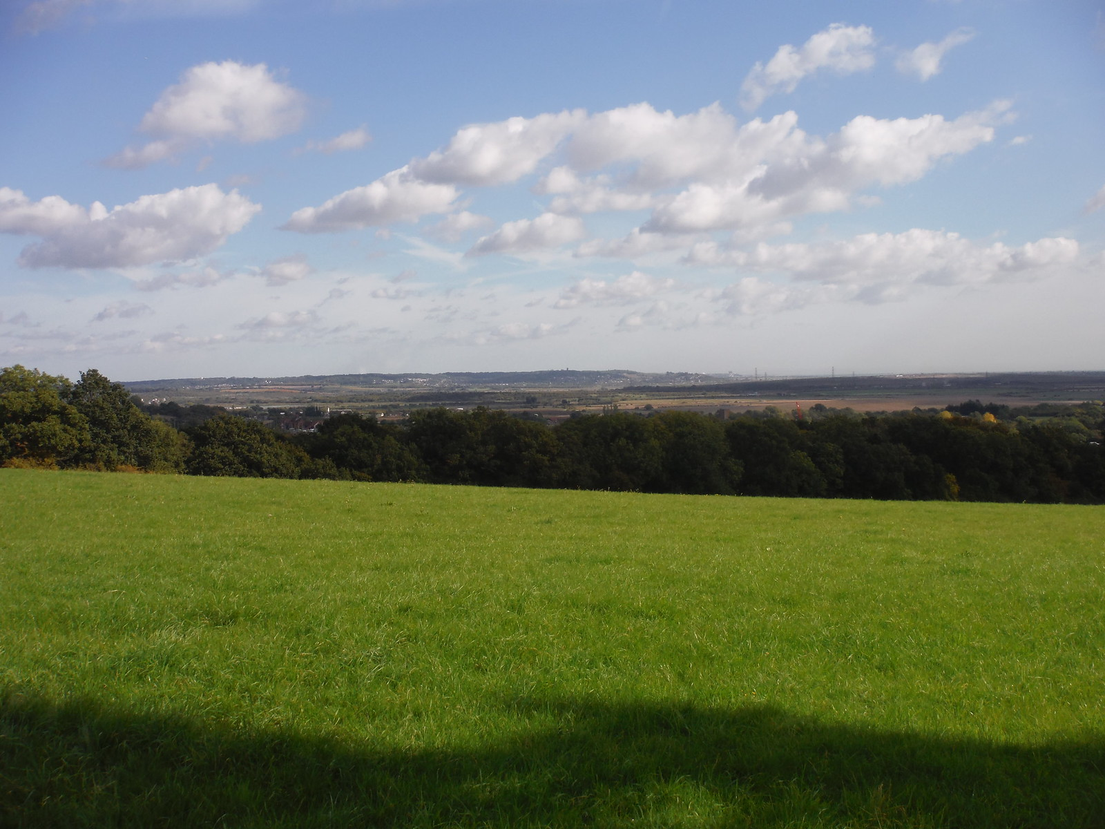 View from One Tree Hill towards Canvey Island SWC Walk 114 Laindon Circular