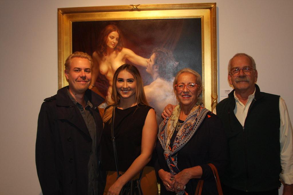 Michael Ahern, Lauren Wells, featured artist Robert Zappalorti & wife Vida