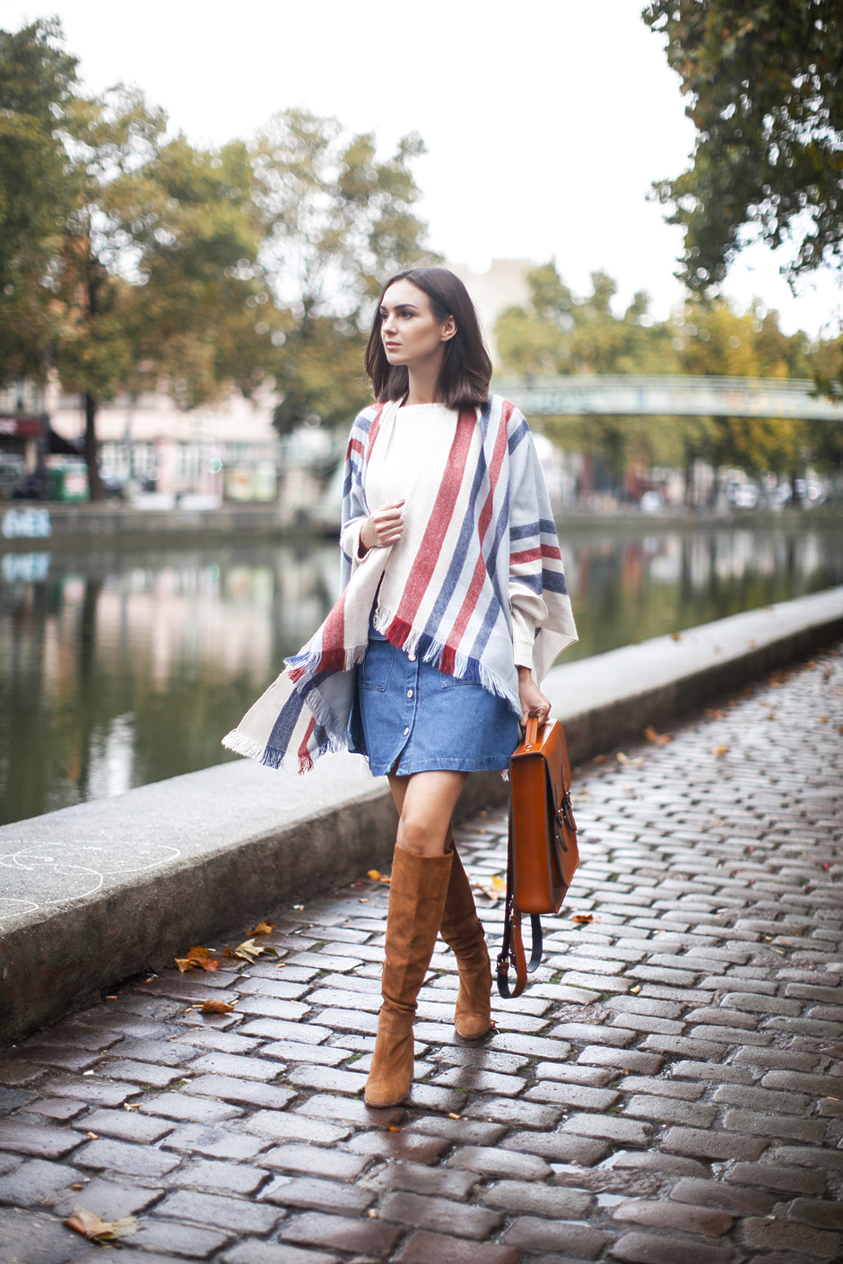 striped-blanket-coat-scarf-outfit