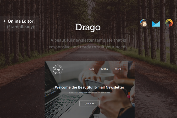 Creativemarket Drago - Modern Newsletter + Builder