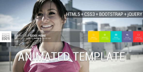 ThemeForest Statti v1.2 - Responsive Bootstrap Animated Template