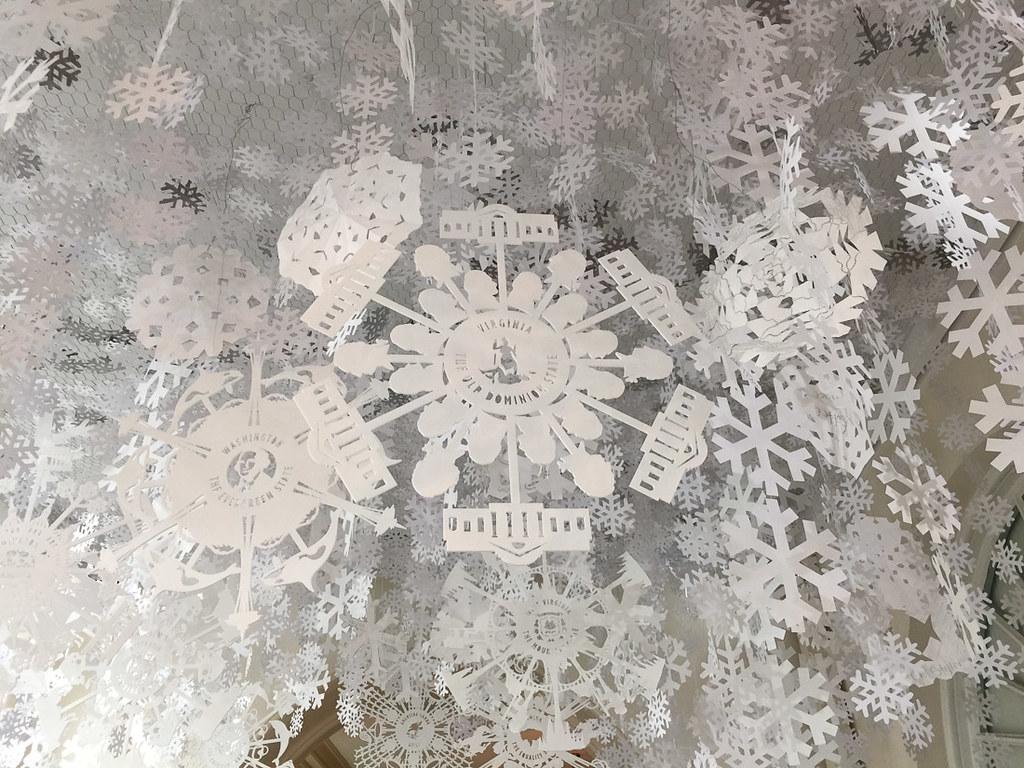 Virginia state snowflake