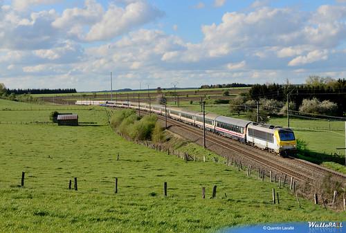 Train des milles avec la 1354 àSaint-Medard le 5mai 2015