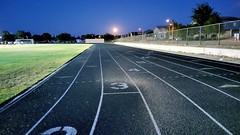 Running the Track at Night