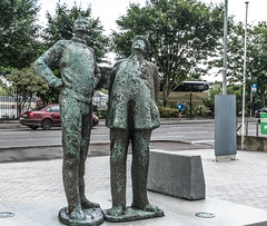TWO WORKING MEN IN CORK [OISIN KELLY'S SECOND PUBLIC ART INSTALLATION]-122297