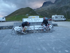 Tired cyclist at the Col du Glandon Image
