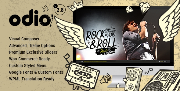 Odio v2.8 – Music WP Theme For Bands, Clubs, and Musicians
