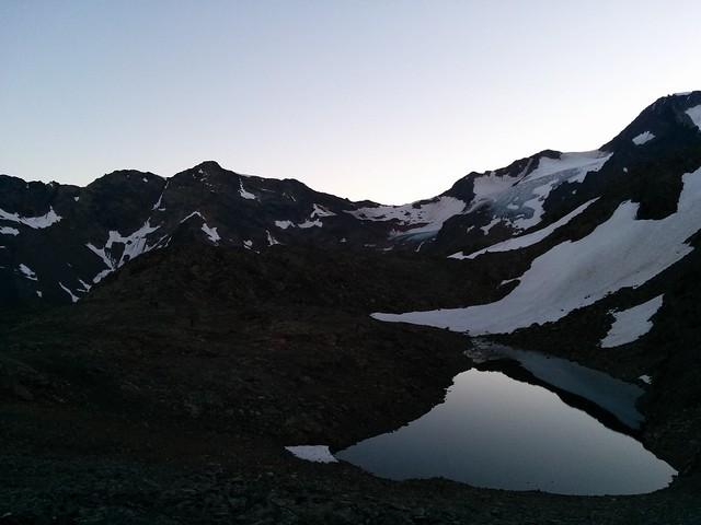 Aufstieg Weißkugel, vorbei am Spaiktsee