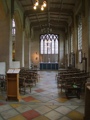 south chancel aisle Blessed Sacrament chapel