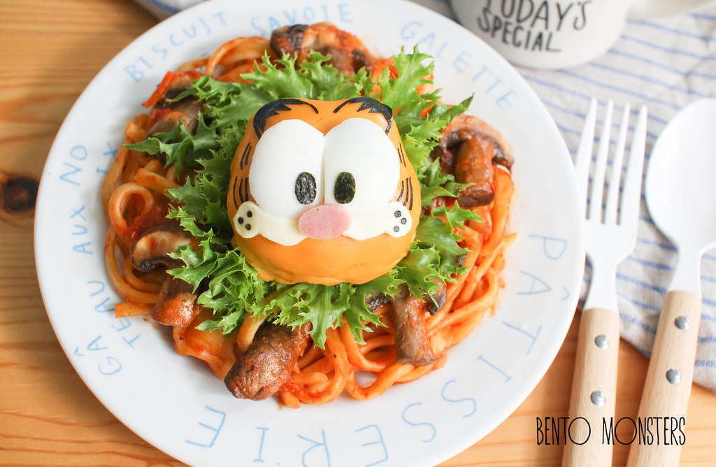 Garfield Pasta Burger Bento Monsters