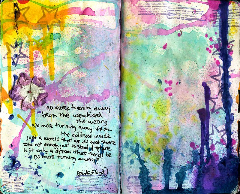 art journal - on the turning away