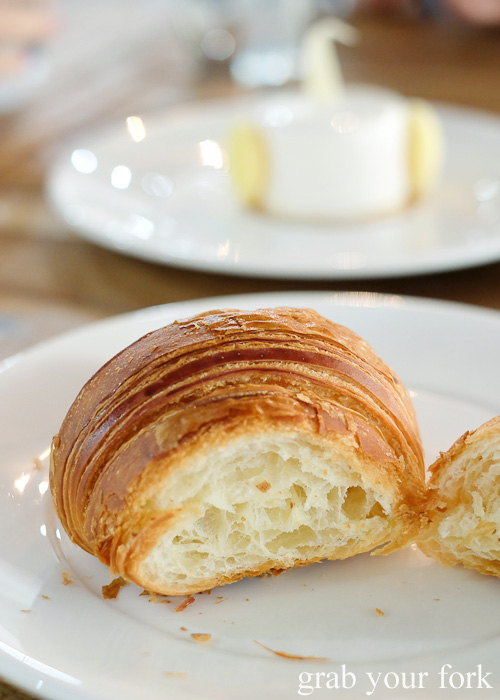 Croissant cross-section at Textbook Boulangerie Pattiserie, Alexandria