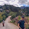 Heading up into a mountain village in West Timor with a friend.