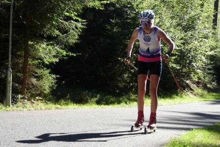 Sandra Schützová na testech ovládla výjezdy na kolečkových lyžích a těší se na MČR