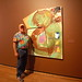 Darryl Hughto in front of one of his wife's Susan's works! by she wolf-