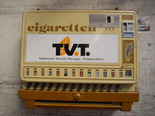 Cigarette machine at Meiningen works