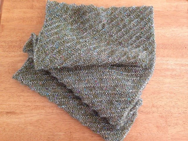 Sequin biased cowl