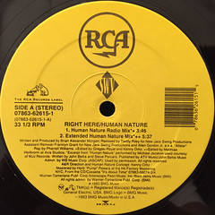 SWV:RIGHT HERE:HUMAN NATURE(LABEL SIDE-A)