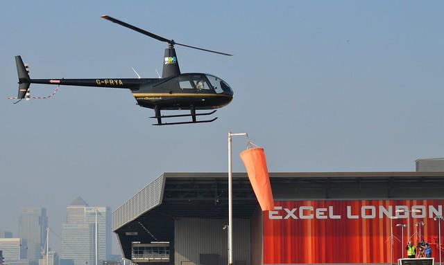 G-FRYA Robinson R44 (4) @ Excel London 03-10-15