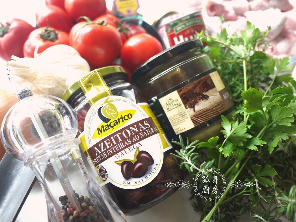孤身廚房-蕃茄橄欖燴雞肉佐番紅花香米3