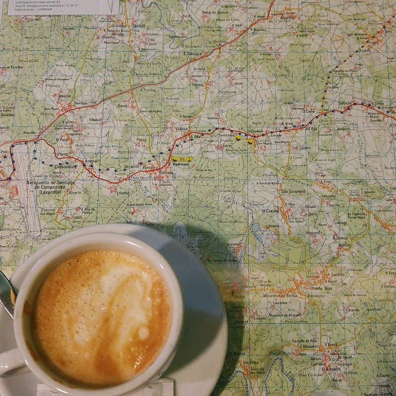Cafe con leche on the Camino