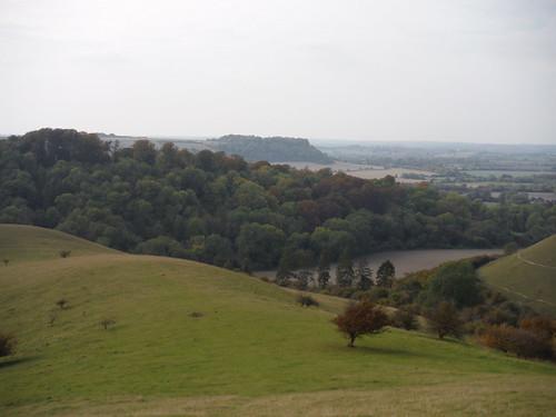 Sharpenhoe Hillfort Site, from Barton Hills