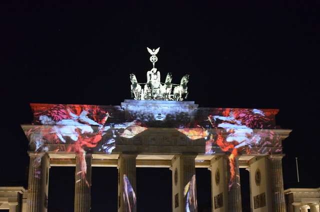 Berlin Festival of Lights 2015 Brandenburg Gate