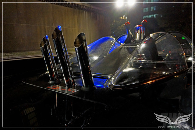 The Establishing Shot: CHARACTER CARS 1966 BATMOBILE (REAR COCKPIT) AT THE ROGUES GALLERY - CREATION OF A SUPER-VILLAIN BOOK LAUNCH @ THE CRYPT GALLERY, LONDON - OCT 2015