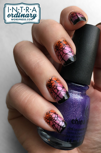 Spider Web Stamped Nails