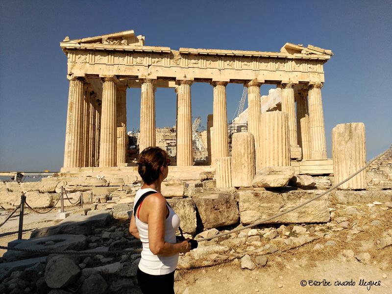 Templo del Partenón, en la Acrópolis de Atenas