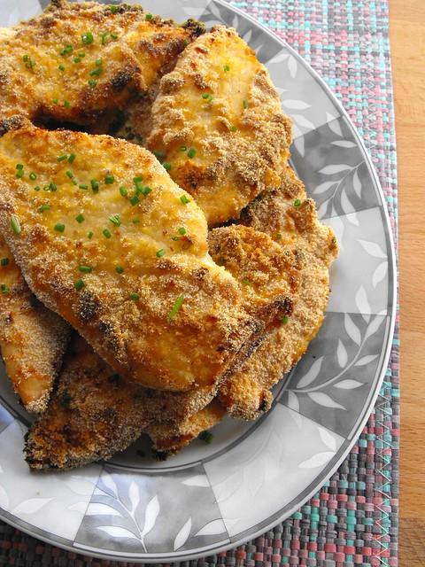 Bifinhos de frango panados com mostarda