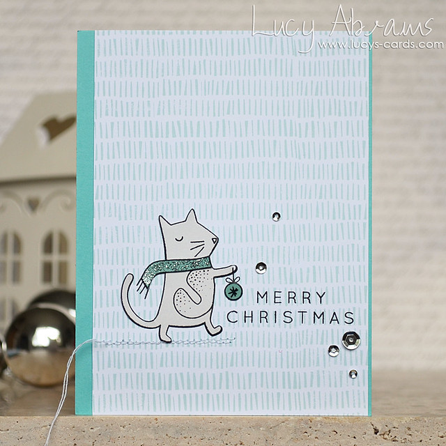 Cute Christmas Cat by Lucy Abrams
