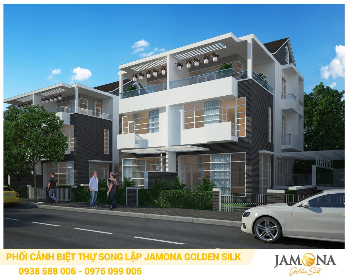 Thiết kế phối cảnh biệt thự song lập Jamona Golden Silk quận 7