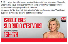 Sud Radio les allergies