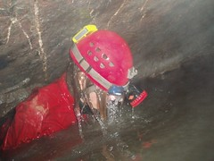 Peter surfacing from Sump 1 Image