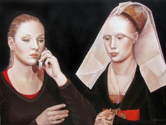 ksenya and a portrait of a lady (after rogier van der weyden): laara cassells