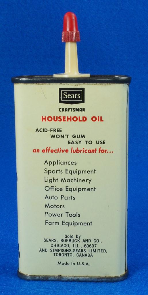 RD14508 Vintage SEARS Craftsman Household Oil 4oz Handy Oiler Can DSC06172