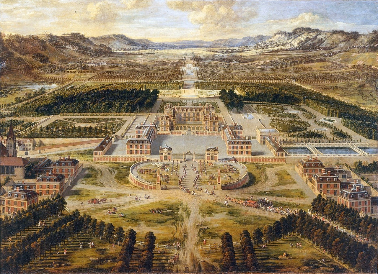 The Palace of Versailles c. 1668 by Pierre Patel