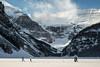 Skiing on Lake Louise