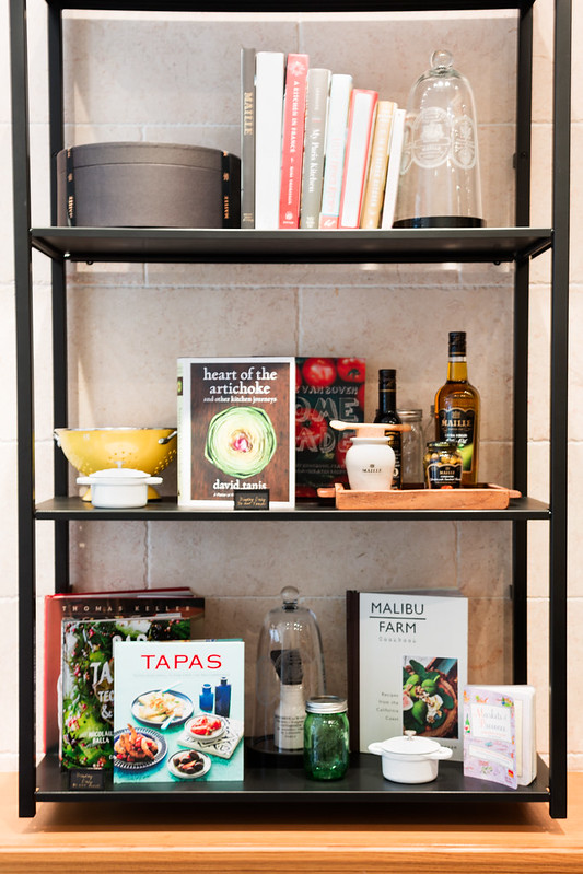 Cookbook display - Maille, Flatiron NYC