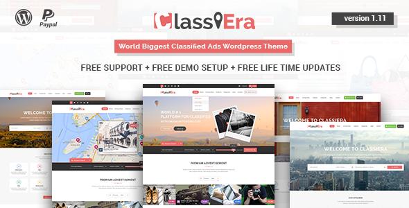 Classiera v1.16 - Classified Ads WordPress Theme
