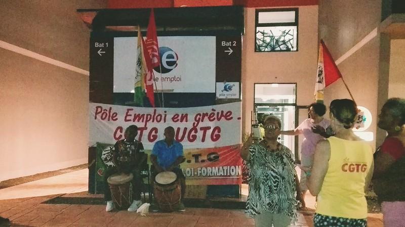 Grève de Pôle Emploi Guadeloupe