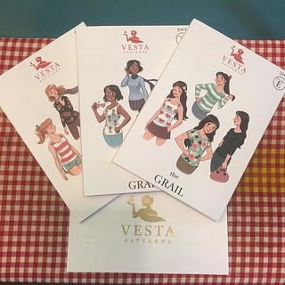 Seriously, though - how cute are the illustrations on these @vvvesta patterns?? 😍✂️😍