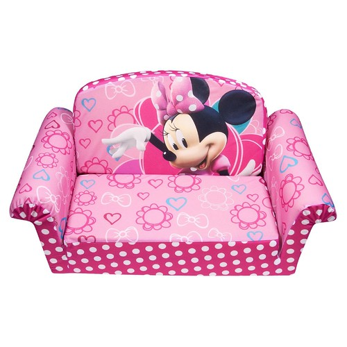 minnie mouse pink flip open sofa kid toddler nap