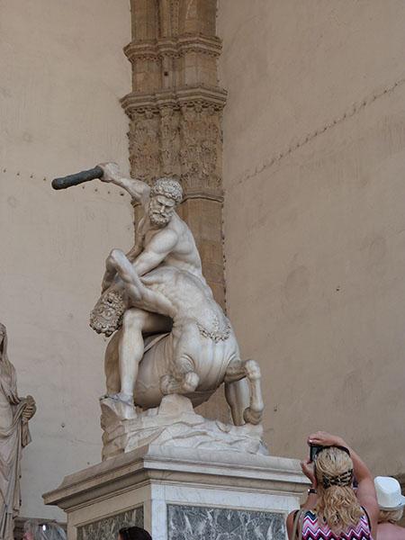 hercule contre le centaure