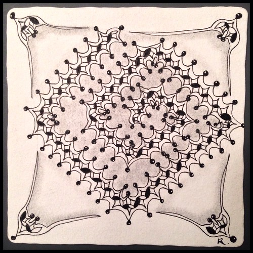 Zentangle 98, for The Diva's Challenge #233
