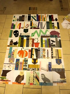 Final layout for the dark arts quilt