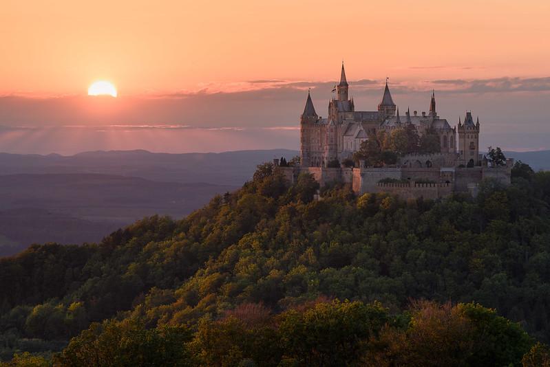 castillo Hohenzollern atardecer