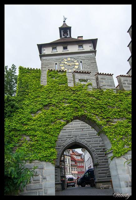 Alemania Lago Constanza Meersburg Unteruhldingen Salem - Puerta medieval en Constanza