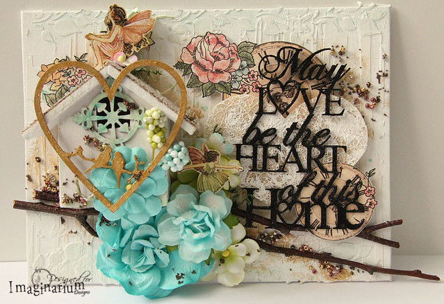 """May Love Be The Heart Of This Home"" Canvas"